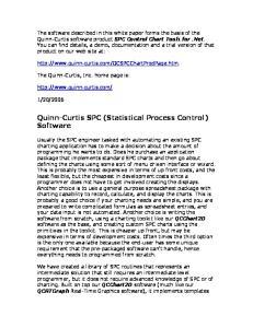 Quinn-Curtis SPC (Statistical Process Control) Software