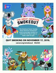QUIT SMOKING ON NOVEMBER 17, 2016