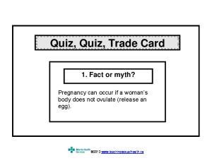 Quiz, Quiz, Trade Card