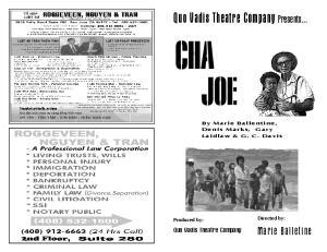 Quo Vadis Theatre Company Presents