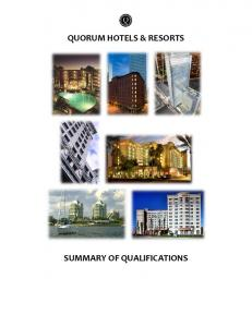 QUORUM HOTELS & RESORTS