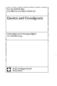 Quoten und Grundgesetz