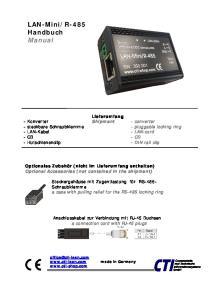 R-485 Handbuch Manual