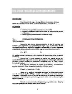 R-C CARGA Y DESCARGA DE UN CONDENSADOR