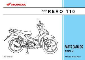 R E V O 110 EDISI 2. New. PT Astra Honda Motor TST 10 PC 002