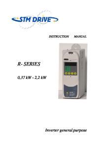 R- SERIES. 0,37 kw - 2,2 kw. Inverter general purpose