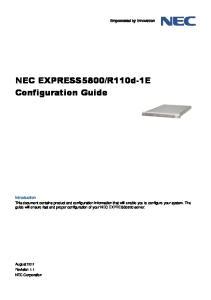 R110d-1E Configuration Guide