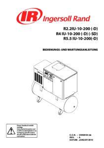R2.2IU (-D) R4 IU (-D) (-SD) R5.5 IU (-D) BEDIENUNGS UND WARTUNGSANLEITUNG