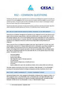 R32 COMMON QUESTIONS