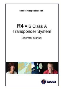 R4 AIS Class A Transponder System