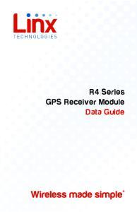 R4 Series GPS Receiver Module Data Guide
