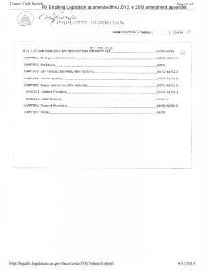 RA Enabling Legislation as amended thru 2012, w 2013 amendment appended