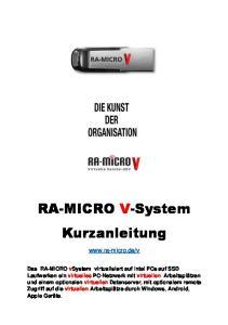 RA-MICRO V-System Kurzanleitung