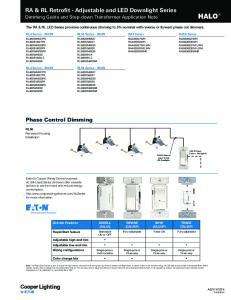RA & RL Retrofit - Adjustable and LED Downlight Series