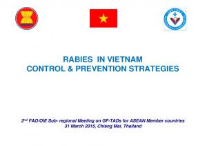 RABIES IN VIETNAM CONTROL & PREVENTION STRATEGIES