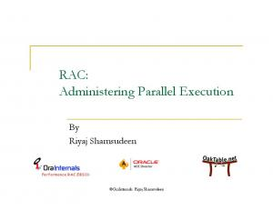 RAC: Administering Parallel Execution