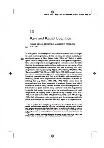Race and Racial Cognition