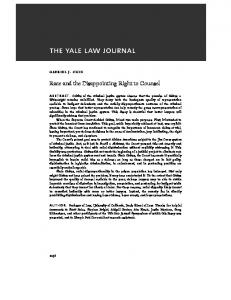 Race and the Disappointing Right to Counsel