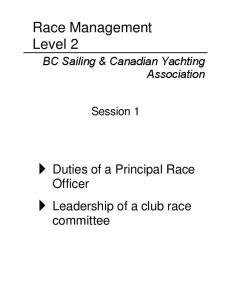 Race Management Level 2