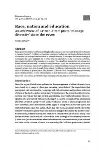 Race, nation and education