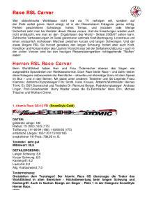 Race RSL Carver. Herren RSL Race Carver