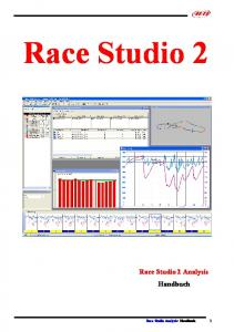 Race Studio 2. Race Studio 2 Analysis Handbuch. Race Studio Analysis: Handbuch 1