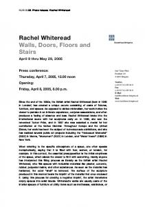 Rachel Whiteread Walls, Doors, Floors and Stairs