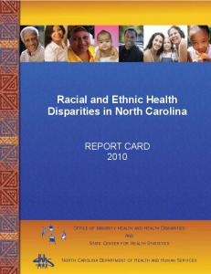 Racial and Ethnic Health Disparities in North Carolina