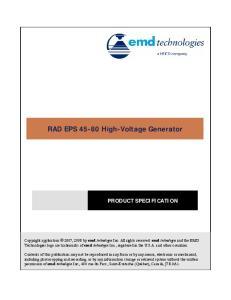 RAD EPS High-Voltage Generator