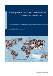 Radar gesellschaftlicher Zusammenhalt messen was verbindet