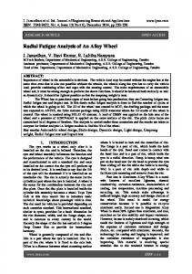 Radial Fatigue Analysis of An Alloy Wheel