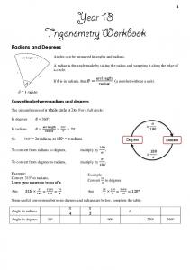 Radians and Degrees. , (a number without a unit) Angles can be measured in angles and radians