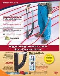 Radiant Heat Tools. Multi-Barbed Staples FBSN FOAMBOARD STAPLER. For in-floor radiant heating installation