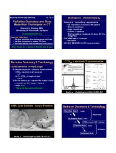 Radiation Dosimetry and Dose Reduction Techniques in CT