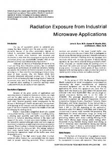 Radiation Exposure from Industrial