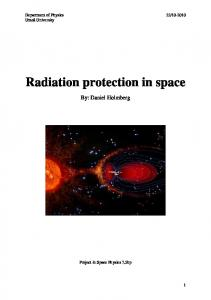 Radiation protection in space