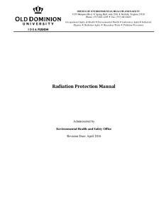 Radiation Protection Manual
