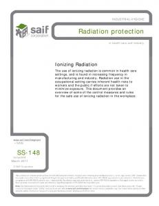 Radiation protection SS-148. Ionizing Radiation