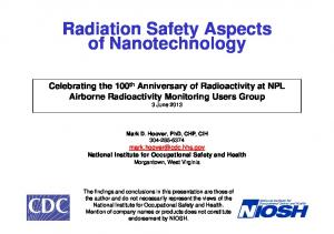 Radiation Safety Aspects of Nanotechnology