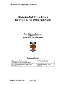 Radiation Safety Guidelines for Use of X-ray Diffraction Units