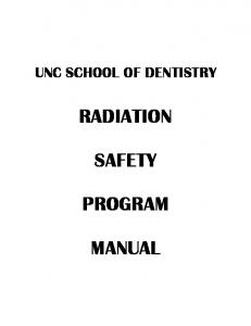 RADIATION SAFETY PROGRAM MANUAL