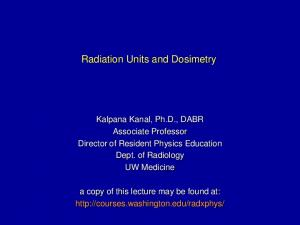 Radiation Units and Dosimetry