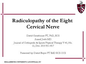 Radiculopathy of the Eight Cervical Nerve