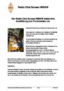 Radio Club Sursee HB9AW