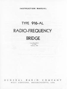 RADIO-FREQUENCY BRIDGE