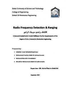 Radio Frequency Detection & Ranging