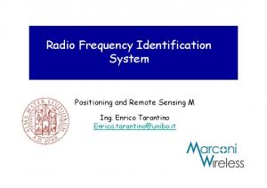Radio Frequency Identification System