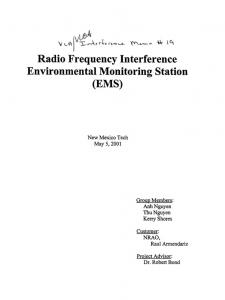 Radio Frequency Interference Environmental Monitoring Station (EMS)