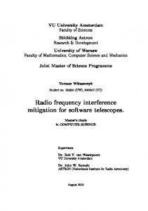 Radio frequency interference mitigation for software telescopes