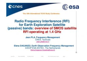Radio Frequency Interference (RFI) for Earth Exploration Satellite (passive) bands: overview of SMOS satellite RFI operating at 1